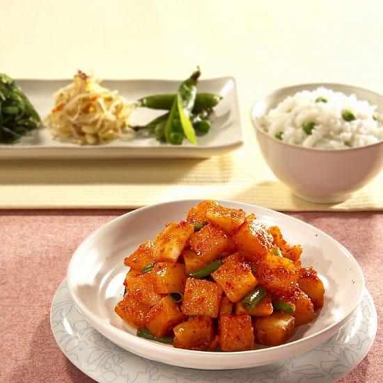 韓国食品/宗家・カクテギキムチ/韓国産材料のみ使用!/500g