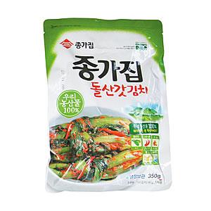 韓国食品/宗家・ガッキムチ(芥子菜のキムチ)/韓国産材料のみ使用!/350g
