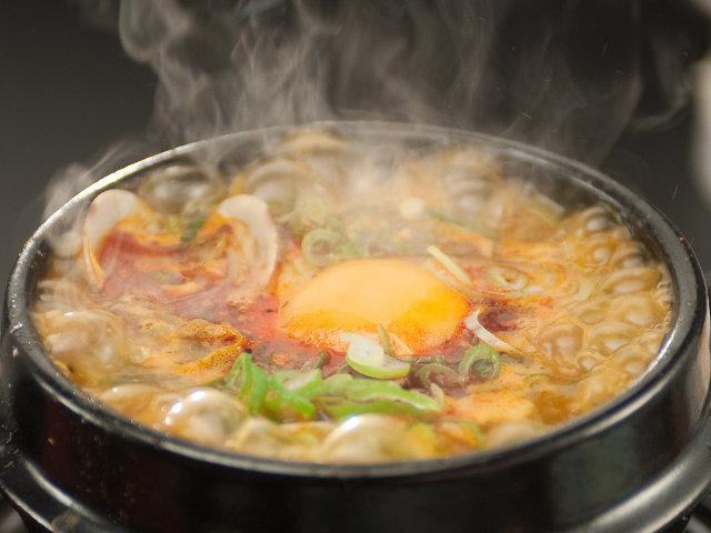 スン豆腐チゲの作り方