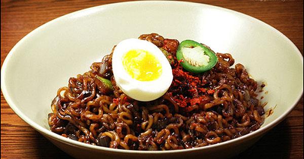 ★韓国食品★オリーブ ジャパゲッティー